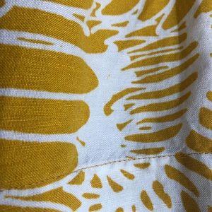 LOFT Skirts - Loft Yellow and White Skirt Size 4